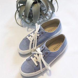 Lauren Ralph Lauren blue white Jolie sneakers 8B